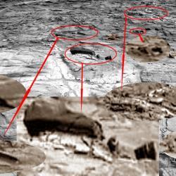 Discolored fracture zones martian sandstone pia20268 full