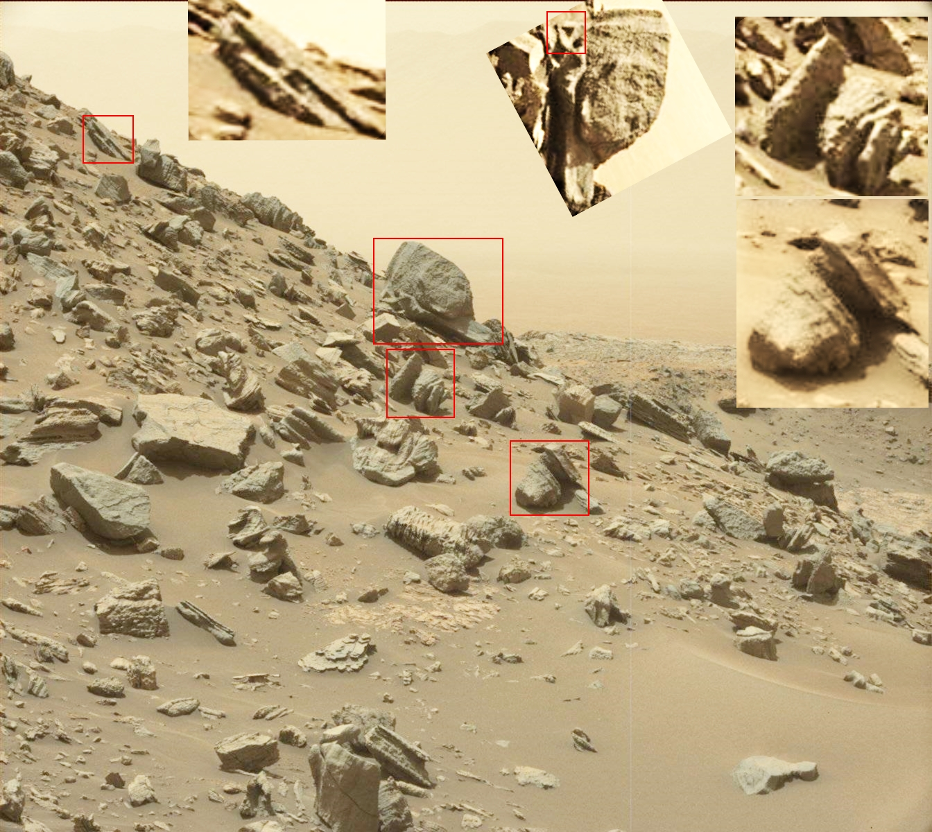 Mars curiosity rover msl rock pia21041 full