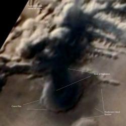 explosion sur Mars