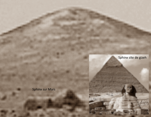 Sphinx sur mars