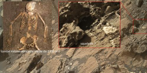 Squelette sur mars